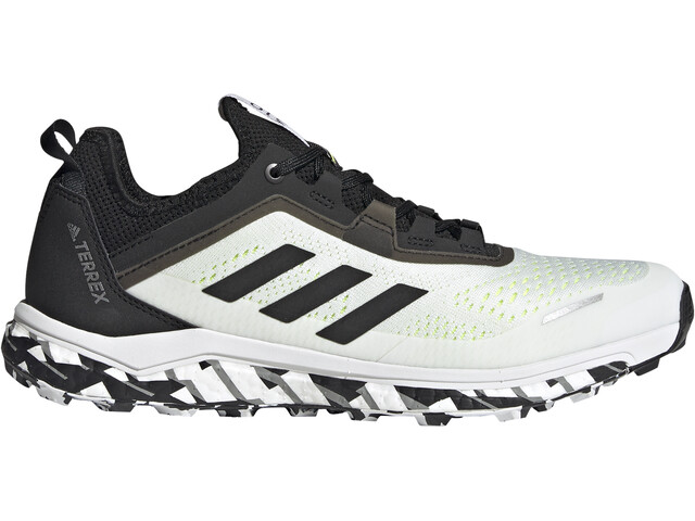 adidas TERREX Agravic Flow Trail Running Shoes Men, feather white/core black/solar yellow